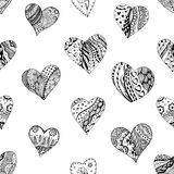Hand drawn ornamental heart Stock Image
