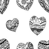 Hand drawn ornamental heart Stock Photos