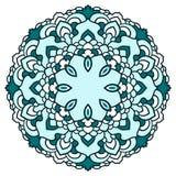Hand drawn ornamental lace round ethnic mandala Royalty Free Stock Image