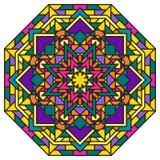 Hand drawn ornamental lace round ethnic mandala Royalty Free Stock Photos