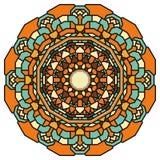 Hand drawn ornamental lace round mandala Stock Photo