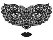 Hand drawn ornamental mask Royalty Free Stock Photos