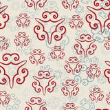 Hand drawn ornamental seamless pattern of different transparency. Vector Illustration. In Orienal Style Stock Image