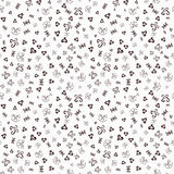 Hand drawn ornamental sketched Doodles seamless pattern, hand drawn vector illustration. Stock Photos