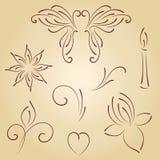 Hand drawn ornaments Stock Image