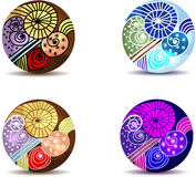 Hand drawn ornaments Royalty Free Stock Photos