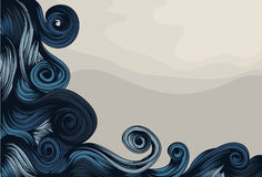 Hand Drawn ornate abstract wave Stock Image