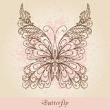 Hand-Drawn Ornate Butterfly Stock Photos