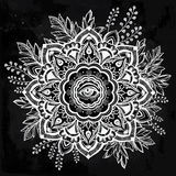 Hand drawn ornate flower with eye inside. Stock Images