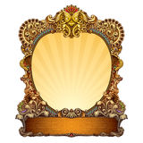 Hand drawn ornate frame Stock Photos