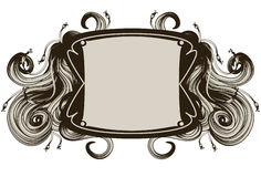 Hand Drawn ornate frame Stock Photo
