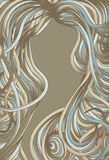Hand Drawn ornate page border. Hand drawn detailed page border background vector illustration