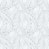 Hand drawn outline fashion seamless pattern Royalty Free Stock Images