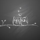 Hand drawn owls Stock Photo