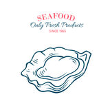 Hand drawn oyster icon. Stock Image