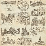 An hand drawn pack, collection - set of architecture Stock Images