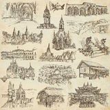 An hand drawn pack, collection - set of architecture Royalty Free Stock Photos