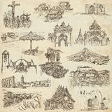 An hand drawn pack, collection - set of architecture Stock Image