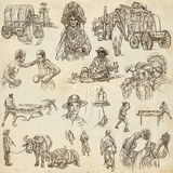 An hand drawn pack, collection - set of people Stock Image
