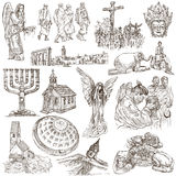 An hand drawn pack, collection - set of worship places Stock Photography