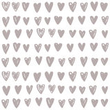 Hand drawn paint hearts. Vector seamless pattern Royalty Free Stock Photography