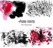 Hand drawn paint texture set Royalty Free Stock Photo