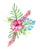 Hand drawn painted pattern. Vector illustration Royalty Free Stock Images