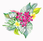 Hand drawn painted pattern. Vector illustration Stock Photography