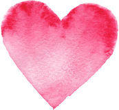 Hand-drawn painted red heart Stock Photos