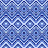 Hand drawn painted seamless blue pattern. Vector Royalty Free Stock Images