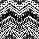 Hand drawn painted seamless pattern. illustration Stock Photos