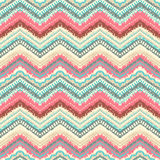 Hand drawn painted seamless pattern. illustration. For tribal design. Ethnic motif. Zigzag and stripe line. Black and white colors. For invitation, web, textile Stock Photos
