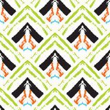 Hand drawn painted seamless pattern Stock Image