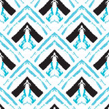 Hand drawn painted seamless pattern Royalty Free Stock Images