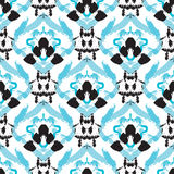 Hand drawn painted seamless pattern Stock Images