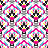 Hand drawn painted seamless pattern Stock Photos