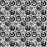 Hand drawn painted seamless pattern Stock Photo