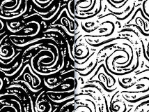 Hand drawn painted seamless pattern Royalty Free Stock Photo