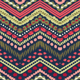 Hand drawn painted seamless pattern. Vector Stock Image
