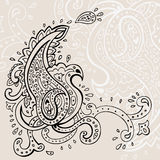 Hand Drawn Paisley ornament. Royalty Free Stock Image