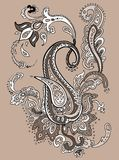 Hand Drawn Paisley ornament. Royalty Free Stock Photo