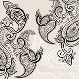 Hand Drawn Paisley ornament. Stock Images