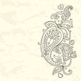 Hand Drawn Paisley ornament. Royalty Free Stock Images