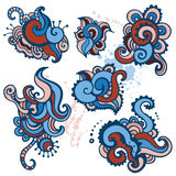 Hand Drawn Paisley Ornament set. Royalty Free Stock Photo