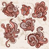Hand Drawn Paisley Ornament set. Stock Photography