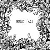 Hand-drawn paisley pattern. Seamless background Stock Images