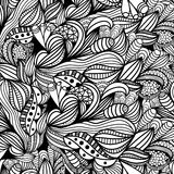 Hand-drawn paisley pattern. Seamless background Royalty Free Stock Images
