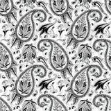 Hand drawn paisley seamless pattern Stock Photography