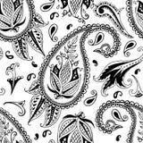 Hand drawn paisley seamless pattern Stock Photo