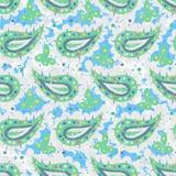 Hand drawn paisley vector seamless pattern Stock Photo